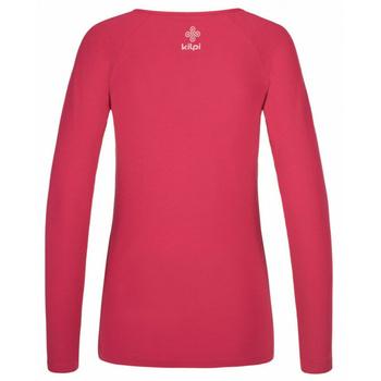 Dámske tričko s dlhým rukávom Kilpi INA-W ružové, Kilpi