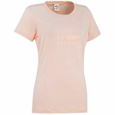Dámske štýlové triko s krátkym rukávom Kari Traa Tvilde 622450, ružová
