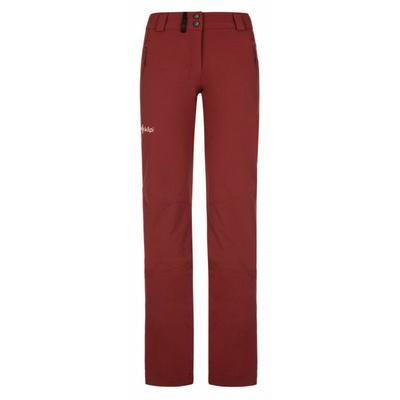 Dámske outdoorové nohavice Kilpi DANNY-W tmavo červená, Kilpi