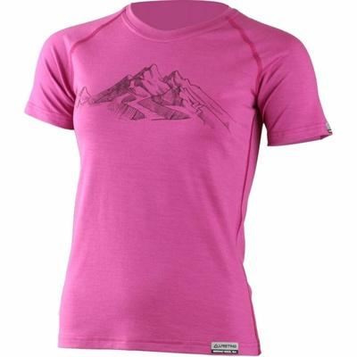 Dámske merino triko Lasting s tlačou Hila ružové, Lasting