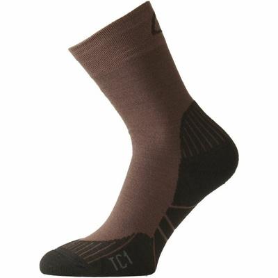 Ponožky funkčnou Lasting TC1-721 hnedé, Lasting