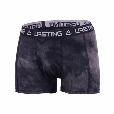 Pánske merino boxerky Lasting BONO čierne, Lasting