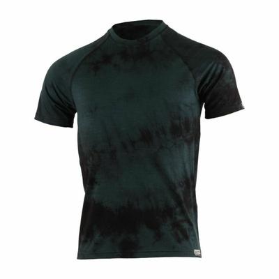 Pánske merino triko Lasting Bokos čierna batik