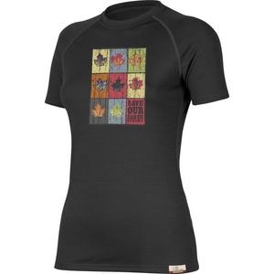 Tričko Lasting ZOZNAM 9090 čierne vlnené, Lasting