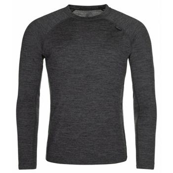 Pánske funkčné tričko s dlhým rukávom Kilpi Mavor TOP-M tmavo šedé, Kilpi