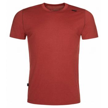 Pánske funkčné tričko Kilpi Merino-M tmavo červené, Kilpi