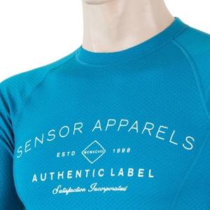 Pánske triko Sensor MERINO DF LABEL modrá 18200017, Sensor