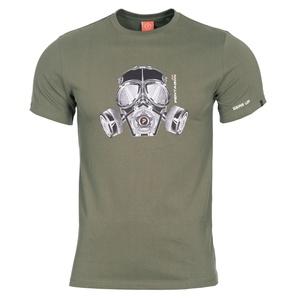 Pánske tričko PENTAGON® Gas mask olivovo zelené