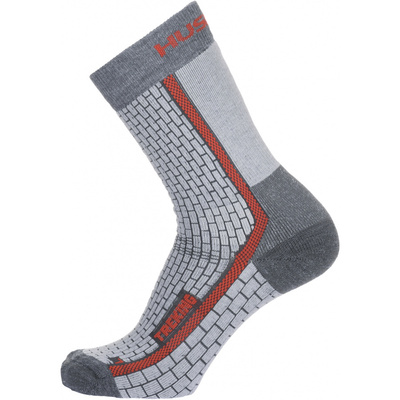 Ponožky Husky Trekking-New šedá/červená, Husky