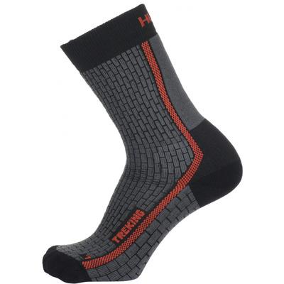 Ponožky Husky Trekking-New antracit/červená, Husky