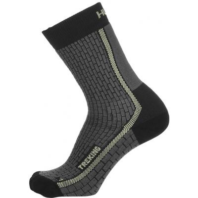 Ponožky Husky Trekking-New antracit/sv. zelená, Husky
