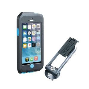 Obal Topeak Weatherproof RideCase pre iPhone 5 + SE čierna / modrá TT9838BU, Topeak