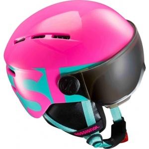 Lyžiarska helma Rossignol Visor Jr Girl-pink RKGH501, Rossignol