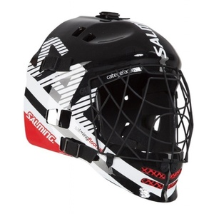 Helma Salming Core Helmet Black/White/Red, Salming