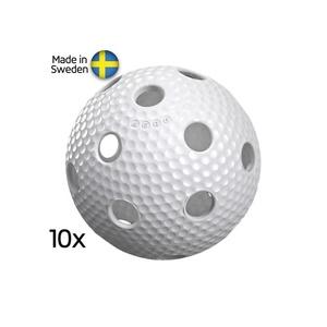 Sada florbalových loptičiek Salming Aero Ball 10-pack White, Salming