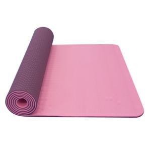 Podložka na jógu YATE yoga mat dvojvrstvová / ružová / fialová / materiál TPE, Yate