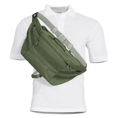 Taška cez rameno Telamon Pentagon® v olivovej farbe, Pentagon