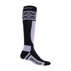 Ponožky Sensor Thermosnow NORWAY čierna / fialová 17200090, Sensor