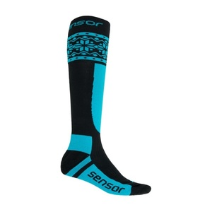 Ponožky Sensor Thermosnow NORWAY čierna / modrá 17200089, Sensor