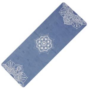 Podložka na jógu YATE yoga prírodne guma / vzor C / modrá, Yate