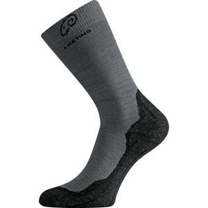 Ponožky Lasting WHI 809 šedé vlnené, Lasting